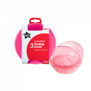 Set castroane Essential, Tommee Tippee, 3 buc, Roz