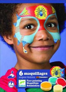 Set make-up, culori non alergice Djeco, super-eroi