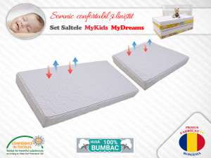 Set saltele MyKids Cocos MyDreams II 120X80X08(cm) + 50X80X08(cm)