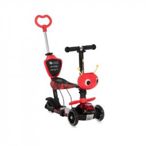 Trotineta pentru copii Smart Plus, Red Fire