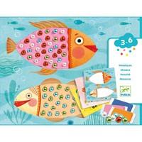 Atelier creativ Djeco, Mozaic cu plastilina si margele
