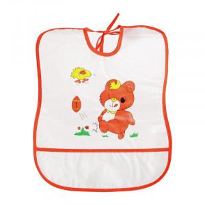 Baveta plastic moale 30x35 cm Orange bear Sunny Baby