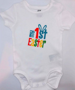 Body alb brodat first easter
