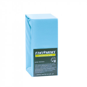 Cearsaf cu elastic jerse bumbac bleu 120/60 cm