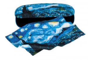 Etui cu textil si protectie ochelari, van Gogh