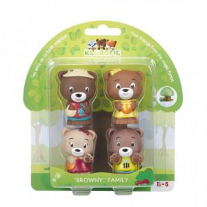 Familia de ursuleti Browny - Pawpaw Family - Set figurine joc de rol