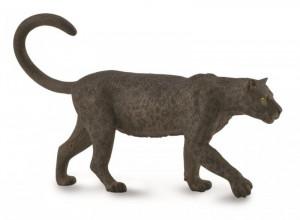 Figurina Leopard negru pictata manual L Collecta