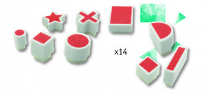 Joc creativ cu stampile forme geometrice