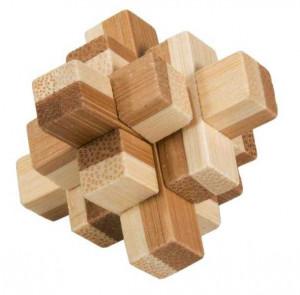 Joc logic IQ din lemn bambus in cutie metalica-9