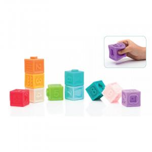Jucarie cauciuc moale cuburi 10 buc/set Filikid