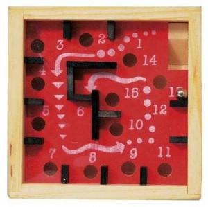 Labirint numerotat cu bila rosu