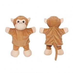 Papusa de mana cu animale - girafa, elefant si maimuta