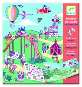 Planse cu abtibilduri repozitionabile Djeco, Locul de joaca pentru copii
