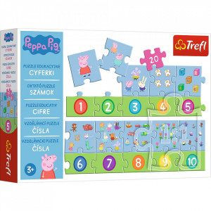 PUZZLE EDUCATIONAL 20 PIESE NUMERE PEPPA PIG