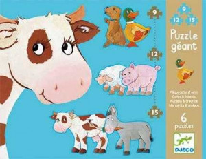 Puzzle gigant Djeco animale de ferma