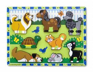 Puzzle in relief animale de companie Melissa and Doug