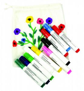 Set 10 carioci pentru textile - Beleduc