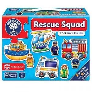 Set 6 puzzle Echipa de salvare (2 si 3 piese) RESCUE SQUAD