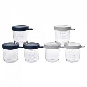 Set 6 recipiente sticla 250ml - Bleumarin
