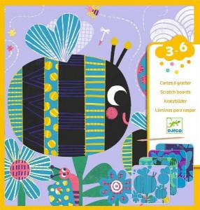 Set creativ de razuit Djeco, Insecte prietenoase