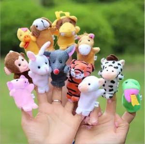Set de 12 marionete pentru degete - animale