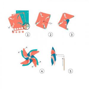 Set DIY Djeco, moristi de vant, buline colorate