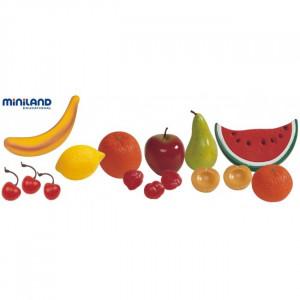 Set fructe din plastic Miniland 15 buc