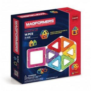 Set magnetic de construit- Magformers, 14 piese