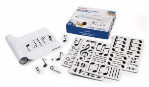 Set Portativ cu 85 note muzicale magnetice