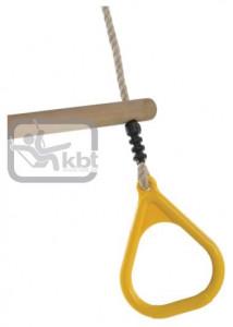 Trapez din lemn cu inele din plastic PP10, Galben, 2,55 m