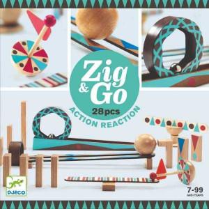 ZigGo Djeco, set de constructie trasee, 28 piese