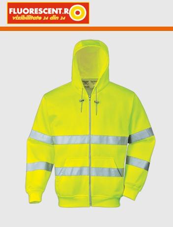 cum să cumpere pret ieftin aspect nou Hanorac galben fluorescent dungi reflectorizante