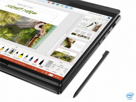 """Laptop Lenovo Yoga 7 14ITL5, 14"""" FHD (1920x1080) IPS 300nits Glossy, 72% NTSC, AGC Dragontrail glass, 10-point Multi-touch, Intel Core i7-1165G7 (4C / 8T, 2.8 / 4.7GHz, 12MB), video Integrated Intel Iris Xe Graphics, RAM 16GB Soldered DDR4-3200, SSD 1TB S"""