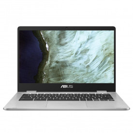 Laptop ASUS ChromeBook C423NA-EC0567, 14.0-inch, Touch screen, FHD (1920 x 1080) 16:9, LCD, Glossy display, IPS-level Panel, Intel® Celeron® N3350 Processor 1.1 GHz (2M Cache, up to 2.4 GHz, 2 cores), 4GB LPDDR4 on board, 64G eMMC, 802.11ac+Bluetooth 4.2