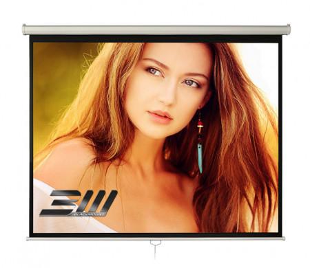 Ecran proiectie manual, perete/tavan, 200 x 125 cm, Blackmount, Format 16:10