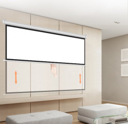Ecran proiectie manual, perete/tavan, 300 X 220 cm, Blackmount, Format 4:3