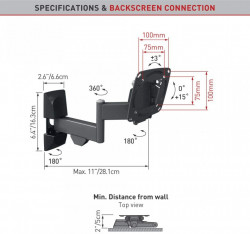 "Suport Monitor Barkan E140.B pentru perete (13""-29"")"