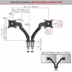 """Suport Monitor Barkan M142P.B pentru 2 monitoare (13""""-29"""")"""