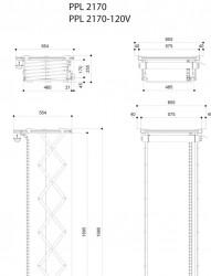 Lift pentru videoproiector Vogel's PPL2170