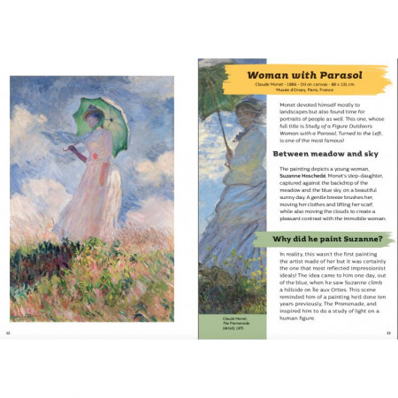 Art Treasures. Monet and the Impressionists - Woman with a Parasol, Turned to the Left