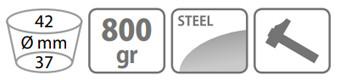Caracteristici sapa Stocker cu lama triunghiulara 800 g (cu coada)