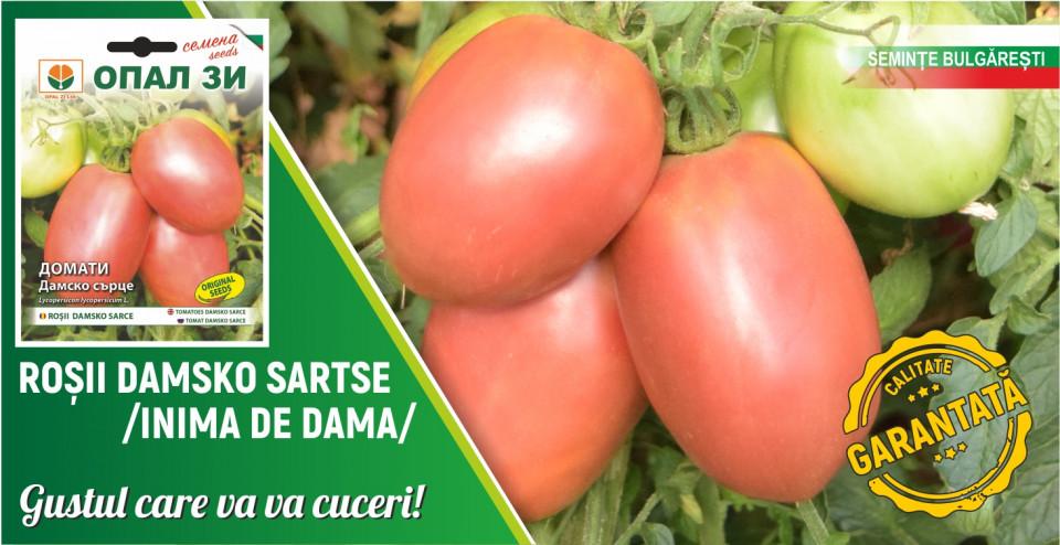 Inima de doamna (Damsko Sarce) - 0.2 gr - seminte rosii soi nedeterminat in forma de inima