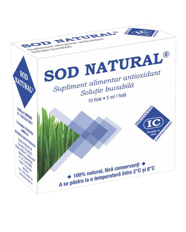 Sod Natural Extract Orz Verde (10 fiole x 5ml) unic in lume ajuta la sistemul imunitar, hepatoprotector Institutul Cantacuzino