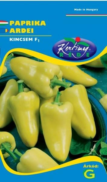 Ardei gras Kincsem F1 (20 seminte), ardei gras hibrid cu crestere rapida si fructe conice, Kertimag
