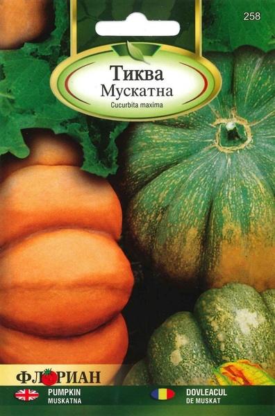 Dovleac DE MUSKAT - 3 gr - Seminte de dovleac Florian Bulgaria