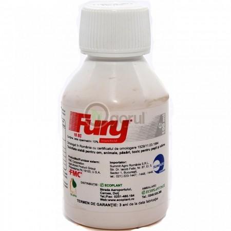 Insecticid Fury 10 EC (100 ml), spectru larg combatere daunatori, Sumi Agro