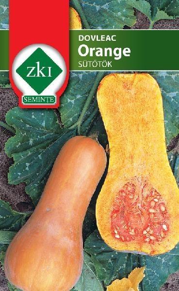 Orange - 500 sem - Seminte de dovlecel fructul are forma unei pere iar coaja si miezul de culoare portocalie de la Zki