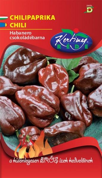 Ardei chili Habanero ciocolatiu (20 seminte), ardei extrem de iute si aromat, Kertimag