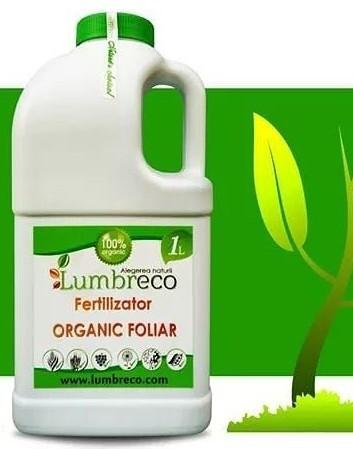 Ingrasamant organic foliar concentrat (1 L), fertilizator bio organic lichid, Lumbreco