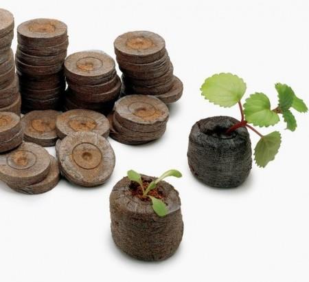 Pastile turba Jiffy diametru 44 mm pentru rasaduri de legume si flori, Jiffy
